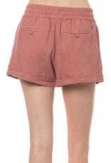 Mauve Linen Shorts
