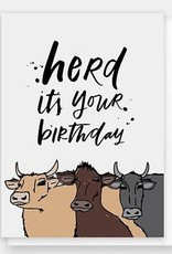 Herd Birthday Card