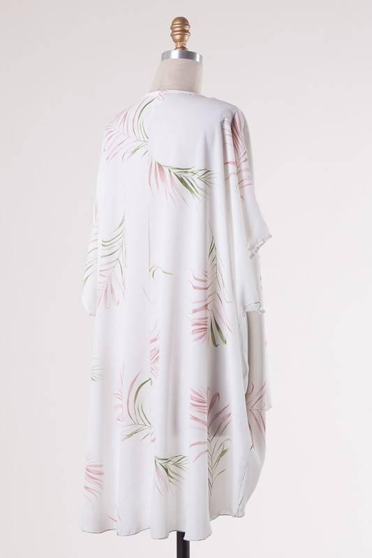 Ivory Leaf Kimono