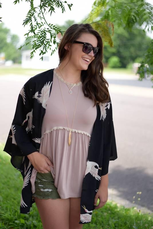 Black Bird Kimono