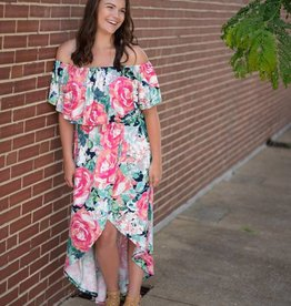 Floral High-Low Maxi Dress