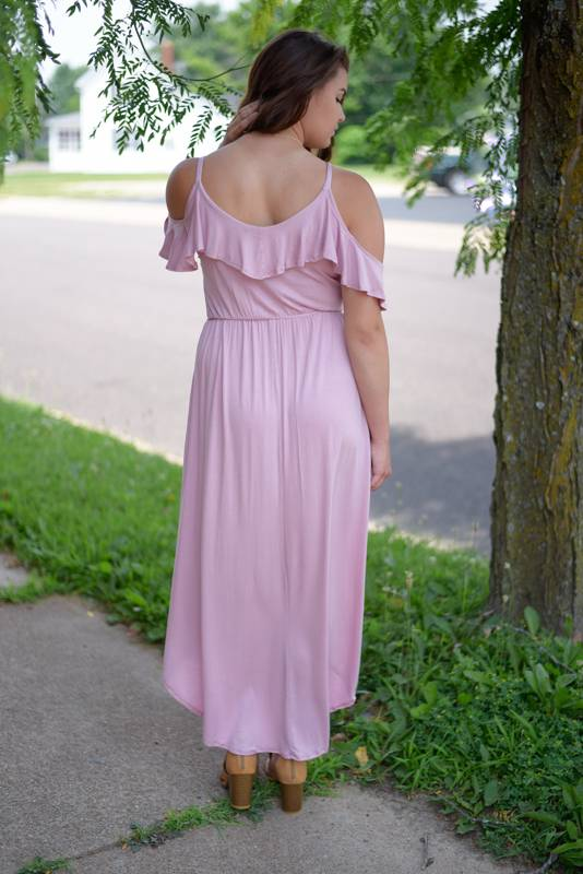 Mauve High-Low Maxi