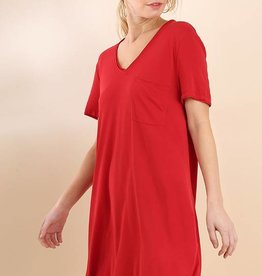 Red T-Shirt Dress