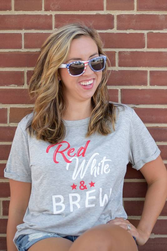 Red, White , & Brew Tee