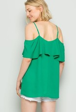 Emerald Ruffle Top