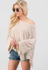 Taupe Slouchy Top