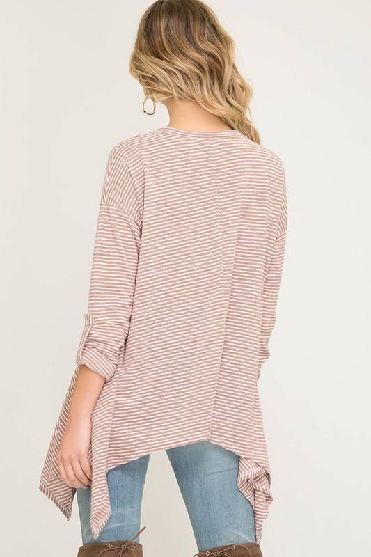 Rose Striped Top