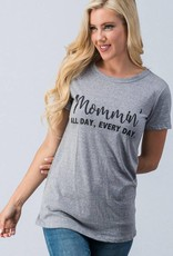 Heather Grey Mommin' Tee