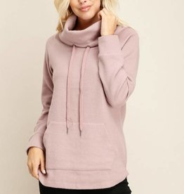 Mauve Turtleneck Pullover