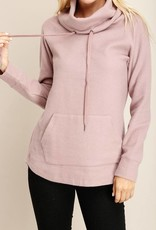 Mauve Turtleneck Pullover