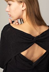 Black Twist-Back Top