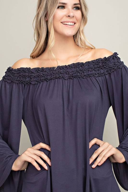Midnight Off Shoulder Top