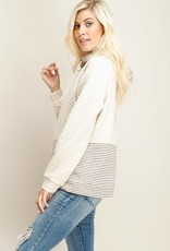 Oatmeal Quilted Pullover