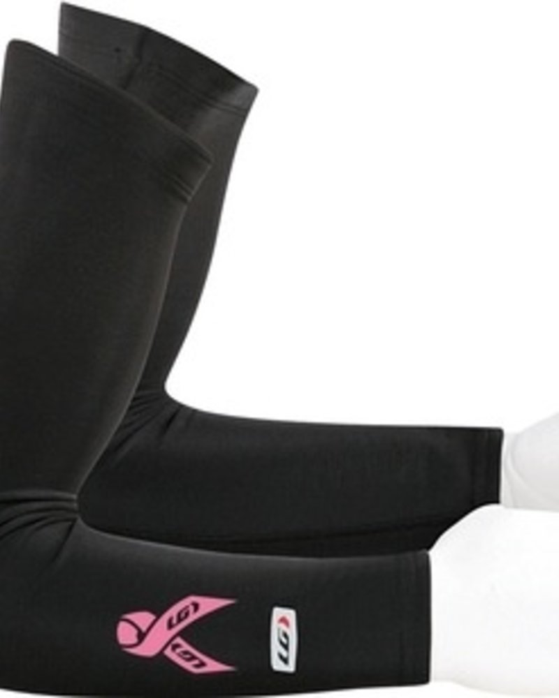 Louis Garneau LOUIS GARNEAU PINK RIBBON ARM WARMERS