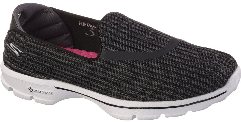skechers black walking shoes. skechers skechers women\u0027s go walk 3 shoe black walking shoes