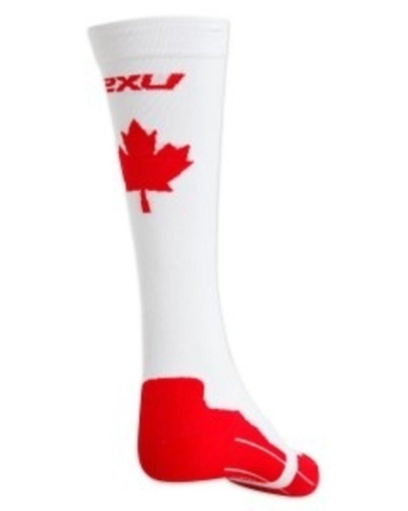 2XU 2XU MEN'S CANADA COMPRESSION RUN SOCK