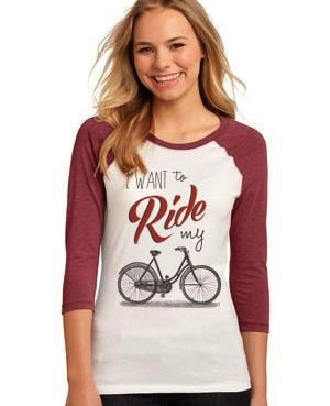 PEDAL PUSHERS WOMEN'S PEDAL PUSHERS CLUB WANT TO RIDE  T-SHIRT
