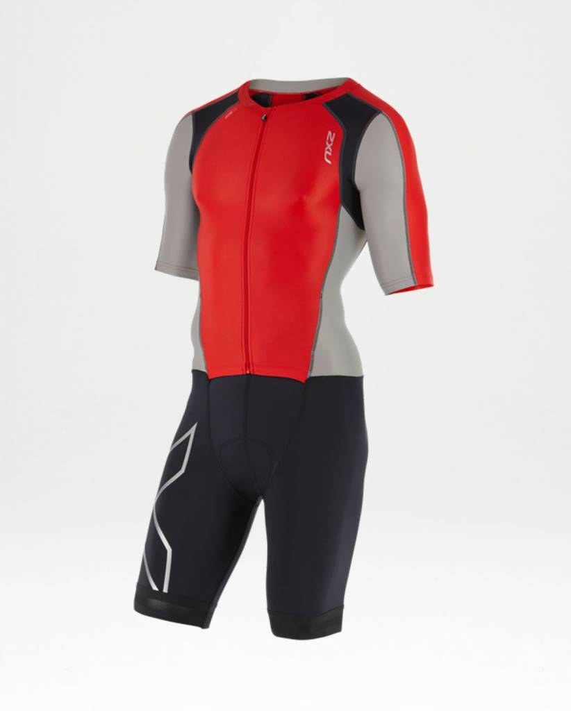 2XU MEN'S COMPRESSION Zip Slvd TRISUIT (MT4442)