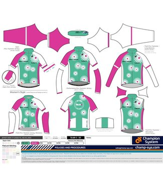 Champion System DAISY TRI IT CYCLING JERSEY