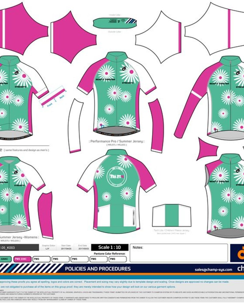 Champion System CHAMPION SYSTEM DAISY TRI IT CYCLING JERSEY