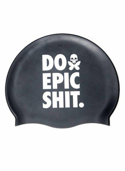 Betty Designs DO EPIC SHIT SILICONE SWIM CAP