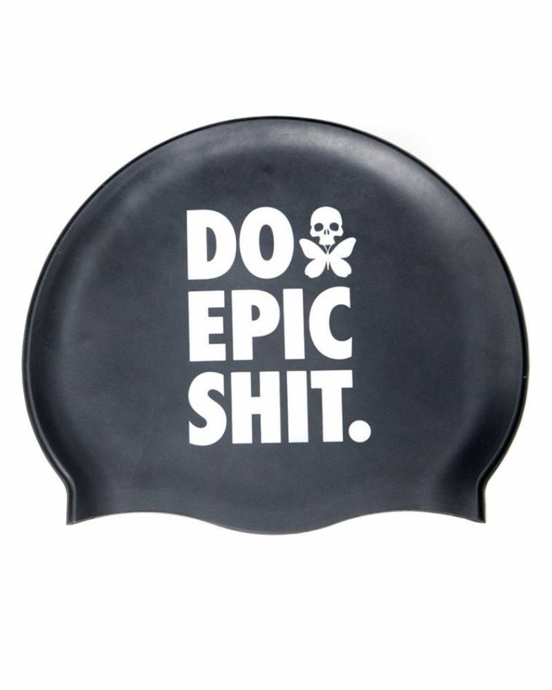Betty Designs DO EPIC SHIT SILICONE SWIM CAP