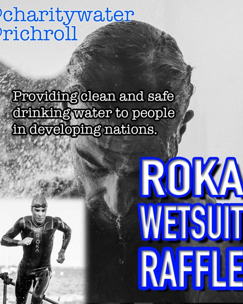 ROKA Javier Gomez Signed Wetsuit benefiting Charity Water