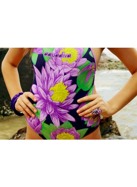 AQUADIVA SILQUE CUT SWIMSUIT - lilac
