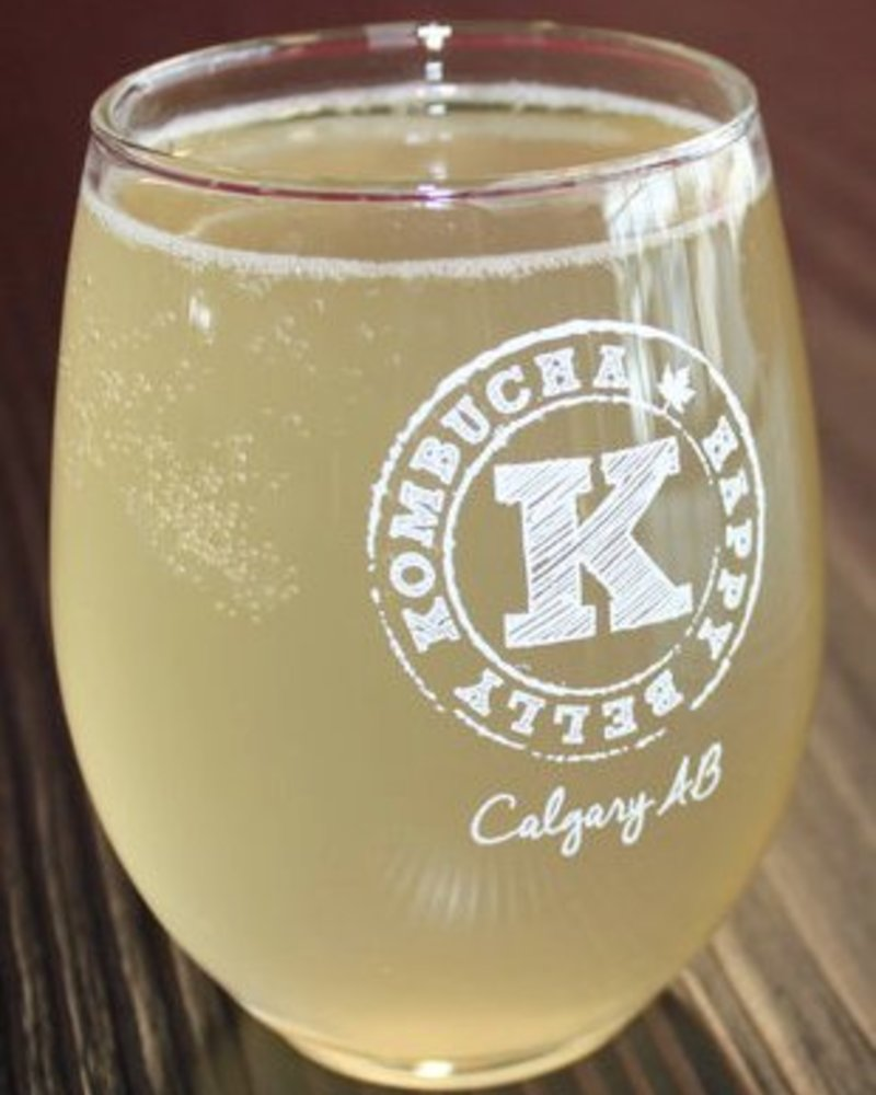 HAPPY BELLY KOMBUCHA DRINKING GLASS