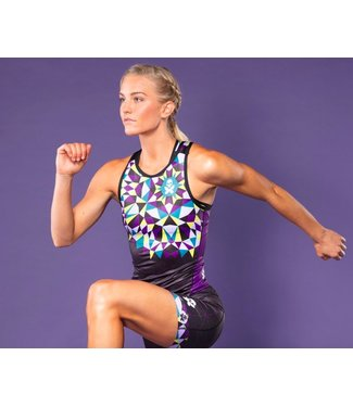 Betty Designs KALEIDOSCOPE RACERBACK TRI TOP