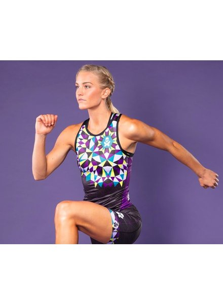 BETTY DESIGN KALEIDOSCOPE RACERBACK TRI TOP