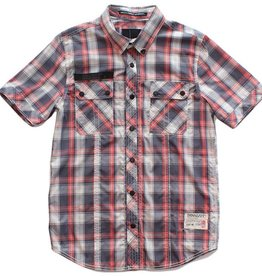 Dissizit S/S Button Up - SSDD - Faded Navy/Red Plaid