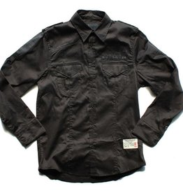Dissizit L/S Button Up - Legionnaire - Black