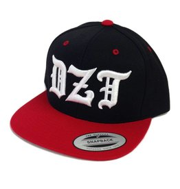 Dissizit Yupoong Snapback - DZT Old E - Black/Red