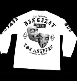Dissizit LS Tee - Outlaw Masks - White