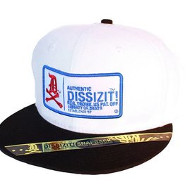 Dissizit Snapback - USA Authentic - White/Black