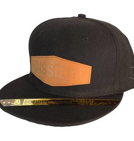 Dissizit Snapback - Leather Patch - Black