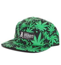 Dissizit 5 Panel - Pakalolo - Black/Green