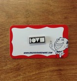 "Love Crew Pin - Black (Size 1"")"