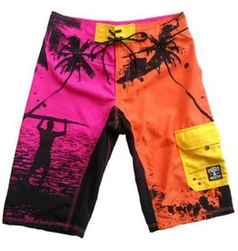 Dissizit Board Shorts - Summer of '69 - Pnk/Org