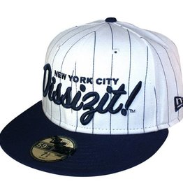 Dissizit NE Fitted - NY Dissizit - Wht w/Nvy PS