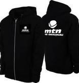 MTN Zip Hoodie - MTN Logo - Black