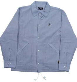 Dissizit Coaches Jacket - Cotton Blue Seersucker