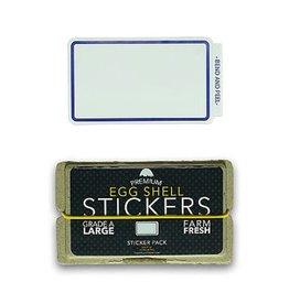 Eggshell Sticker Pack - Blue Line - 80pk