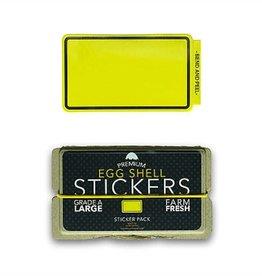 Eggshell Sticker Pack - Yellow Line - 80pk