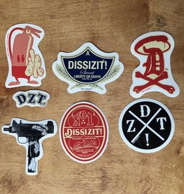 Dissizit Sticker Pack - Assorted Colors