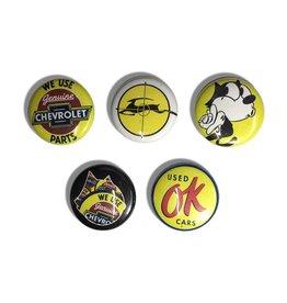 """DZT Button Pin Set - Genuine (Size 1"""")"""