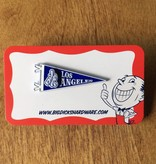"""Dissizit Pin - LA Pennant Pin - Blue (Size 1.75"""")"""