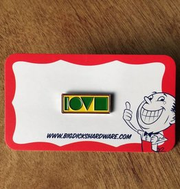 "Love Crew Pin - Rasta (Size 1"")"