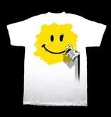CC Tee - Happy Spray Face - White